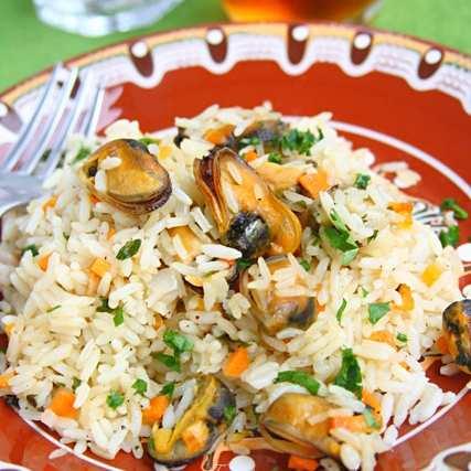 Миди с ориз на фурна