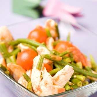 Пилешко със зелен фасул по арабски