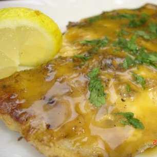 Риба с паста от горчица и мед