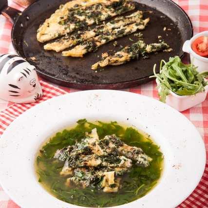 Супа ала дженовезе със зелен омлет