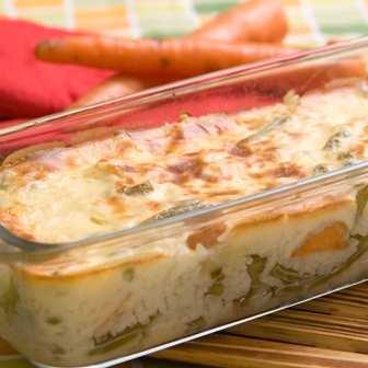 Вегетарианска мусака с ориз и зеленчуци