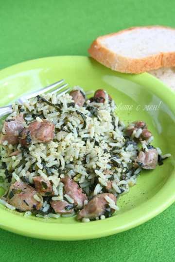 Воденички с ориз и спанак